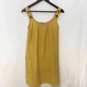 Aritzia Wilfred Yellow Dress With Pockets